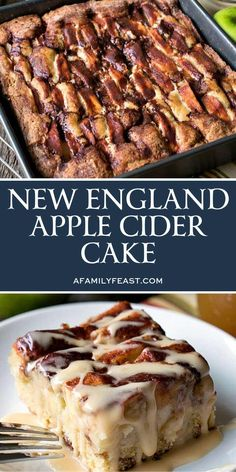 New England Apple Cider Cake – A straightforward, wet and scrumptious cake with a debauched, velvety apple juice coat. An ideal fall dessert! Ingredients : For the Cake 1 cup apple juice 2 cups Granny Smith apples 3 enormous Apple Recipes, Fall Recipes, Baking Recipes, Fall Dessert Recipes, Köstliche Desserts, Delicious Desserts, Finger Desserts, Fall Baking, Sweet Cakes