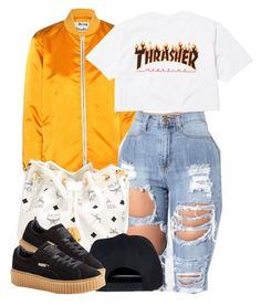 """""""Baby you got lucky cause you're rocking with the best."""" by cheerstostyle ❤ liked on Polyvore featuring Acne Studios, MCM and Puma"""