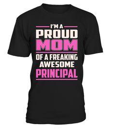 Principal Proud MOM Job Title T-Shirt #Principal