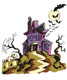 1000+ images about Cards - Halloween Houses, Trees ...