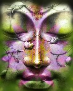 """Watch the thought and its ways with care, and let it spring from love born out of concern for all beings"" -- Gautama Buddha Buddha Zen, Buddha Buddhism, Buddhist Art, Gautama Buddha, Buddha Face, Guided Meditation, Green And Purple, Diy Art, Chakras"