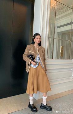 Korean Street Fashion, Asian Fashion, High Fashion, Womens Fashion, Muslim Fashion, Modest Fashion, Fashion Outfits, Aesthetic Fashion, Aesthetic Clothes