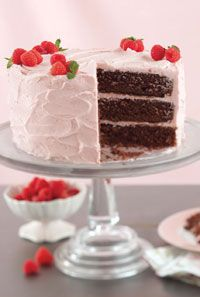 Chocolate Cake with Raspberry Frosting by Paula Deen (from Cooking with Paula Deen website)