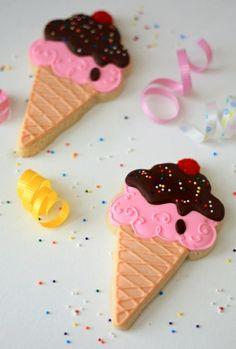 Biscuit à la forme de glace - cool déco gâteau