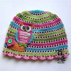 Crocheted Owl Hat Set $75.00. No Pattern....  etsy.com