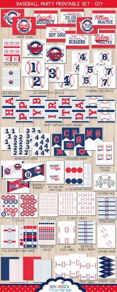 Baseball Party Printable  Baseball Birthday  by AmandasPartiesToGo, $29.50