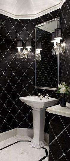 Lovely B&W bathroom....❤️ uniqueshomedesign:modern bathroom charisma design