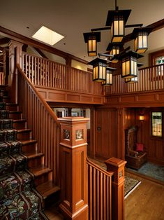 Windward Oaks Custom Home - Oak Bay - craftsman - Staircase - Other Metro - Mike Knight Construction