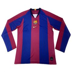 a0bb615f8f7 2019 Barcelona Special-Edition For El Clasico Home Long Sleeve Jerseys Shirt
