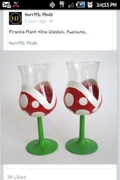 mario wine glasses