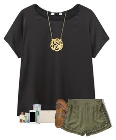 """""""Had 2 quizzes today :-("""" by sanddollars ❤ liked on Polyvore featuring MANGO, Abercrombie & Fitch, Kate Spade, Birkenstock, WALL, Anastasia Beverly Hills and BaubleBar"""