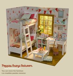 """Diorama """"Amapolas Breeze Dormitorio"""" OOAK por Nerea Pozo Keera   eBay"""