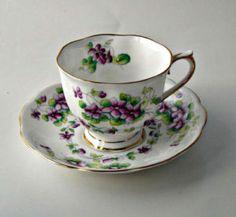 bone china tea cups | Royal Albert English Bone China Tea Cup and Saucer Sweet Violet