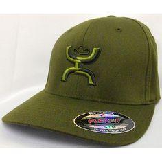 77e0d122641f4 HOOey Cap The Natural Dark Green FlexFit Cap