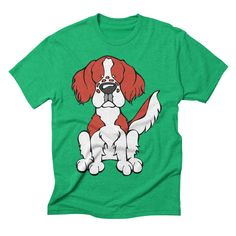 Calling all Irish Red and White Setter Lovers!  Check this design as well as 100s more designs in the Angry Squirrel Studio Threadless Artist Shop. Available in multiple colors and styles. #threadless #artistshop #angrysquirrelstudio #dogsofpinterest #IrishRedandWhiteSetter https://angrysquirrelstudio.threadless.com