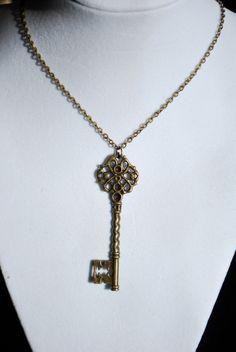 Antique Bronze Skelton Key Necklace. $10.50, via Etsy.