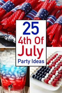 Be inspired by these easy and patriotic of July party ideas! - Be inspired by these easy and patriotic of July party ideas! Here you will find the best o - 4th Of July Desserts, Fourth Of July Decor, 4th Of July Celebration, 4th Of July Decorations, 4th Of July Party, 4th Of July Wreath, 4th Of July Ideas, July 4th Appetizers, 4th July Food