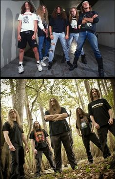 Cannibal Corpse! Then & Now. I love Barnes era, plus he's hot, but love the No-Neck new shit!! \m/