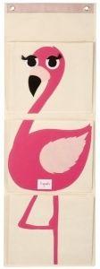 3 Sprouts seinätasku, flamingo