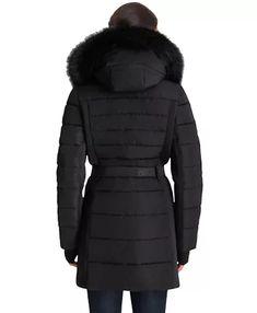 Michael Kors Belted Faux-Fur-Trim Hooded Puffer Coat & Reviews - Coats - Women - Macy's Winter Is Comming, Fur Trim, Coats For Women, Canada Goose Jackets, Faux Fur, Hoods, Winter Jackets, Michael Kors, Belt