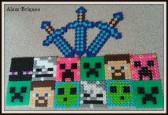 Minecrafts - Hama Beads. Sígueme en fb como Alam-Briques.