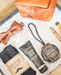"""Surprise and spoil your groom with one last gift before he becomes your husband with our """"For My Groom"""" gift box. 🥂 🛍 Featured: For My Groom Gift Box New Product, Product Launch, Curated Gift Boxes, Gift Exchange, Marry You, Wedding Gifts, Groom, Husband, Tote Bag"""