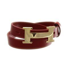 Jewelry - Hermes Inspired Leather Wrap Bracelet, Red | ALENA KIRBY