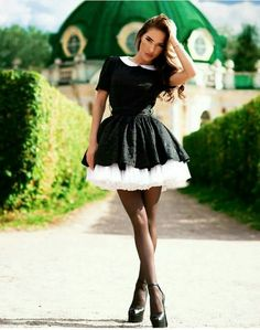 Somehow I have let my wife turn me into her maid. I'm sure I was all man but something happened and now I can't imagine being a man again. Super Cute Dresses, Pretty Dresses, Beautiful Dresses, Frilly Dresses, Satin Dresses, Tight Dresses, French Maid Dress, Maid Outfit, Elegant Woman