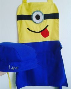 Kit Avental Infantil Minions                                                                                                                                                                                 Mais