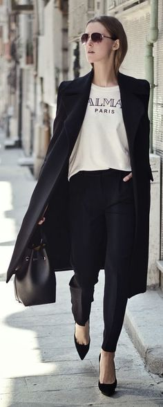 Black And White Chic Outfit Idea by Neon Rock