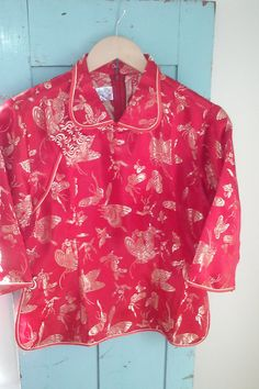Asian Embroidered Butterfy Top/ Peter Pan by JulesCristenVintage, $38.50