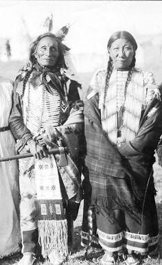 Short Bull and his wife - Oglala - circa 1900