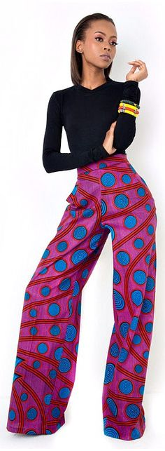 Kalani-Pants. African Print Pants. Ankara | Dutch wax | Kente | Kitenge | Dashiki | African print dress | African fashion | African women dresses | African prints | Nigerian style | Ghanaian fashion | Senegal fashion | Kenya fashion | Nigerian fashion | Ankara crop top (affiliate)