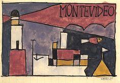 Sergio de Castro, Port de Montevideo, 1949.   Source: http://www.sergiodecastro.org/fr/oeuvres/49-31-port-de-montevideo