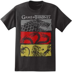 Game of Thrones - 3 House Symbols T-Shirt at AllPosters.com