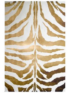 Super girlie - makes me smile - Safari Style - Gold Zebra rug. A rug for the single lady.