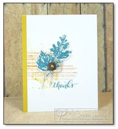 Gently Falling, Gorgeous Grunge, Off the Grid, Another Thank You - Stampin' Up! (Crushed Curry, Island Indigo, Pumpkin Pie)