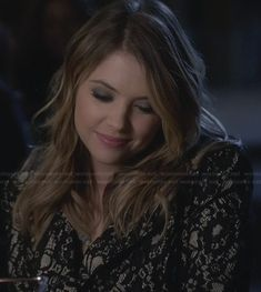 Hanna's lace coat on Pretty Little Liars.  Outfit Details: http://wornontv.net/27955/ #PLL