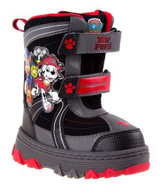 Keep tootsies comfortable and ready to frolic in chilly weather with these cozy boots featuring hook and loop closures, sturdy soles and a darling puppy design. Chilly Weather, Paw Patrol, Kid Shoes, Snow Boots, Toddler Girl, Boys, Red, Black, Grandkids