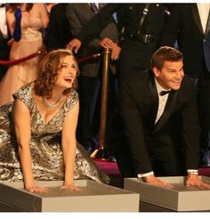 Bones & Booth - Emily and David, stars of the Bones TV Series