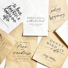 Donut Favor Bag  Wedding Favor Bags  Personalized Wedding image 9