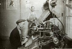 Linotype printing.