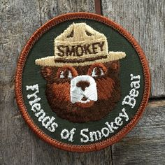 Friends of Smokey Bear Vintage Patch by HeydayRetroMart on Etsy