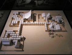 jørn utzon, first stage of school centre, herning, model 1968-1970