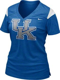 Kentucky Wildcats Women's Royal Nike Football Replica T-Shirt Kentucky Sports, Kentucky Wildcats, Nike Football, Football Shirts, Duke Apparel, Duke Blue Devils, Sports Shirts, Sports Teams, Florida Gators