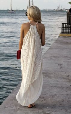 Lace maxi dress, that is soft and light which is perfect for a Summer Evening. The House of Q