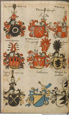 Wappen besonders von deutschen Geschlechtern Süddeutschland ?, 1475 - 1560 Cod.icon. 309  Folio 29v