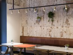 Rubn Long John pendant at Nude Coffee & Wine Bar in Moscow, by Form Bureau.