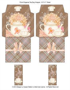 Digital Printable Tea Wrapper Floral Elegance by CooperStation