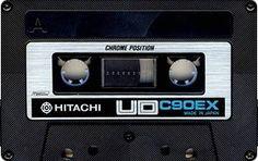 HITACHI UD C90EX Magnetic Tape, Cassette Tape, Mixtape, Compact, Retro, Audio, Culture, Nostalgia, Engineering